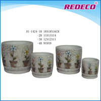 Terracotta garden pot with saucer