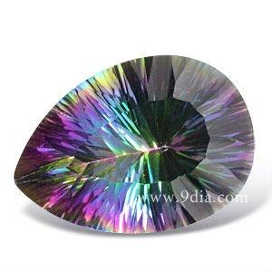 Piedra semipreciosa magia el Color verde Rainbow Mystic Topaz piedras