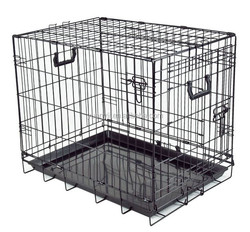 Dog cage for sale cheap folding pet cage dog crate wire kennel with tray