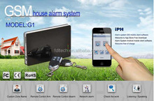 Cost effecitive Security system-GSM security alarm system with Iphone&Android APP control for house/office/building security