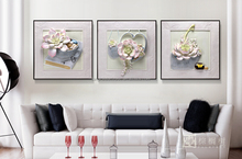 Wall decoration painting model, modern flower art paintings, 3D wall art