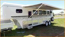 high quality China made 4 horse gooseneck horse float horse trailer