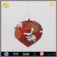 Hot sale onion shaped hollow glass balls for 2016 christmas