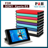 OEM ODM high quality flip cover mobile phone case for sony xperia e3