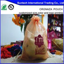 Sheer organza favor party bags ribbon drawcord organza gift pouch