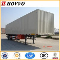 3 axle 40ton dry van semi trailer cargo box semi trailer