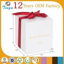 custom elegant white box paper packaging for gifts