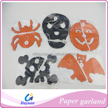 Hanging Spider & Batman Paper Garland for Halloween Party