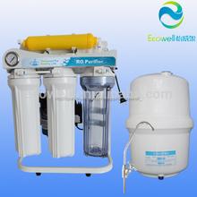 5/6/7/8 etapas doméstica ro purificador de agua con el soporte y el calibrador de presión