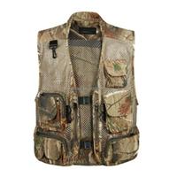 2015 Summer Camouflage Fly Fishing Vest Breathe Freely Cotton Camping Vest Summer Fishing Vest