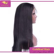 Natural indian virgin human hair wigs bangs full lace wig wholesale
