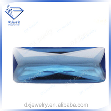 Sea blue lengthen raw rectangle loose cubic zirconia gemstone