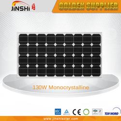 A grade high efficiency mono solar panel 130w
