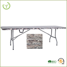 2015 Suitcase folding table/suitcase picnic table/fold In Half Table,two pcs Top