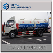 vacuum sewage suction truck with water tank cleaning tanker