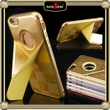 Custom Made Diamont Genuine Leather Wallet Card Holder Case For Iphone 5S