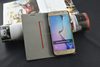 2015 new arrival mobile phone credit card wallet pouch leather case for samsung galaxy s6 edge