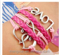 Yiwu combination red braided rope bracelet infinite kepi love bracelet student friend