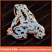 Sovenirs Qibla Direction China Wholesale Custom Grateful Dead 3D Poison Dead Frog Black & Blue - Silver Metal Lapel Pin/Badge