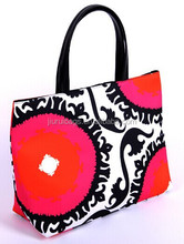 New pattern shopping 230D printed tote bag with lining