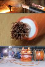 JiuKai cable pvc/rubber sheathed orange/blue welding machine cable