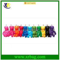 Wholesale stock multicolor for choosing bear animal folding shopping bag