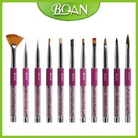 2015 BQAN Rhinestone Nail Art Beauty Design Nail Art Brush Set