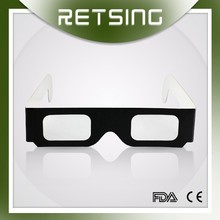 Custom cheap glasses reusable fireworks circular polarized 3D glasses use paper