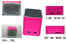 music speakers audio Digital with Micro SD/TF Card Loud Speaker for MP3 player ipod iPhone laptop