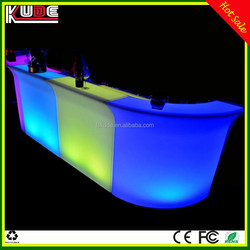 RGB light glowing modern LED bar table/LED light up bar counter for nightclub