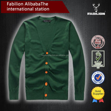 Korean knitting factory military Cardigan Latest New Style Sweater