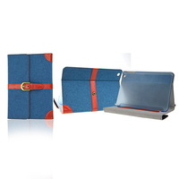 for 9.7 inch tablet pc leather case,fashion universal tablet case ,jean case for ipad mini