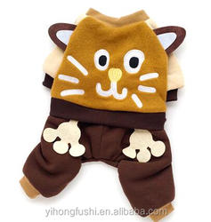 Factory Direct Sales Cheap Dog Warm Clothes Pet Cartoon Clothes Big Face Cat Suit
