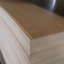 2.7mm thickness 1220*2440mm wood grain color melamine mdf