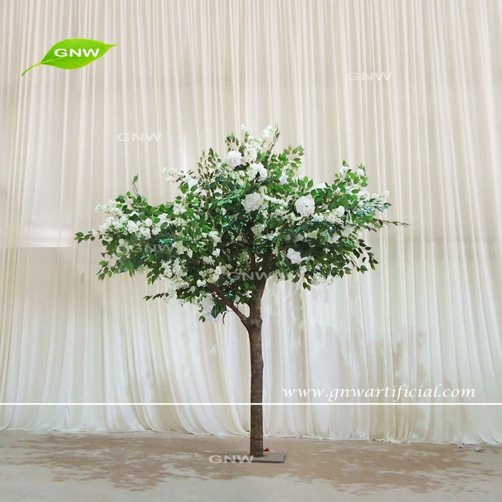 Gnw Bls040 Import China Silk Flowers 12ft White Color For Wedding