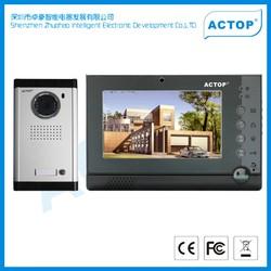 New arrival alarm system door phone for building video door phone with photo memory