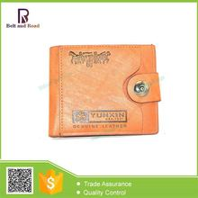 Hangzhou manufacture special men's brown leather wallets