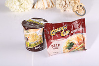hot 2015 Chinese Cereal Food Delicious!! chicken , beef, vegetable flavours chinese instant noodle cup noodle