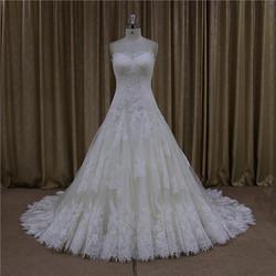 Beautiful handmade flower chiffon halter neck wedding dress
