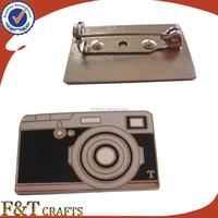 High quality fashion metal custom made camera shape badges/lapel pin badge/lapel pin manufacturers