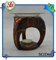 SGD66 Decorative Elephant Nose Candle Holder,Lucky Elephant Burner