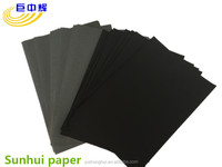 Black paper with grey back one side balack one side grey paper