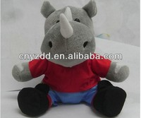 rhino plush toys/soft and stuffed plush rhino/rhinoceros toy