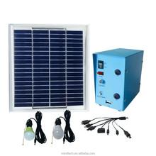 5w solar lighting kit with 5w solar panel and 2pcs 12v 3w led