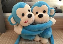 hugging long arms monkey plush toy