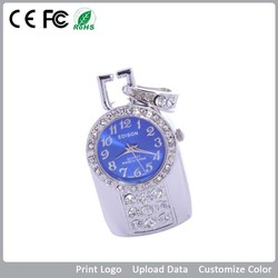 Pocket watch shaped usb flash drive 1GB 16 GB USB pendant with crystal,bulk cheap price buy from china