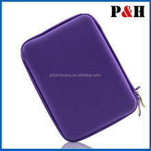 """Purple EVA Travel Hard Case Cover Bag for Various 10.1"""" Tablets Stand"""