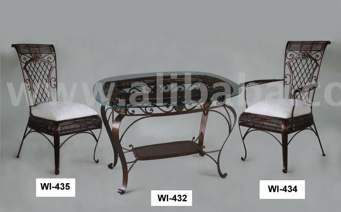 Wrought Iron Dining Set Buy Wrought Iron Dining Furniture Product On