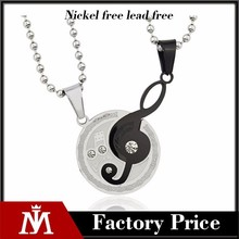 New Products 2015 stainless steel music notation pendant,sliver pendant letter,metal alphabet letter pendants