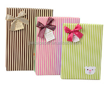 Stripe-type Rectangle Paper Box Gift With Lid